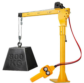 electric winch hoist pickup truck crane