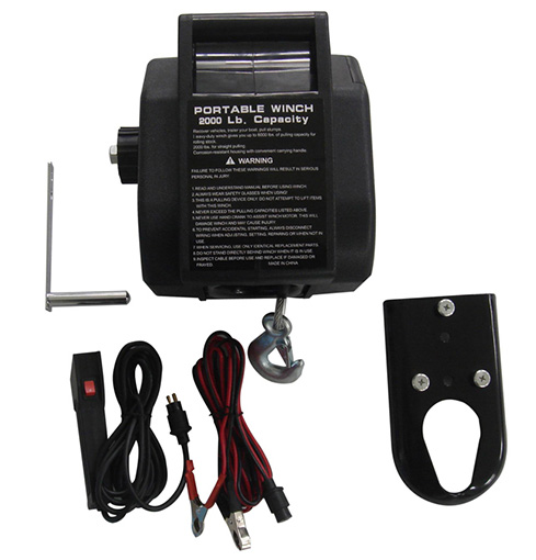 2000lbs DC boat electric winch